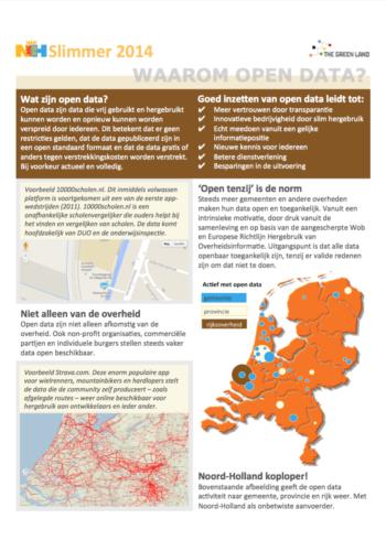 Waarom Open Data - NHSlimmer 2014